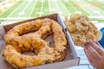 Maryland Stadium Unveils 1-and-a-Half Pound Pretzel Smothered With Cheesy Crab Dip