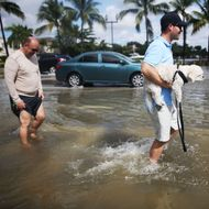 Rising Sea Levels, Full Moon, High Tide Cause Flooding In Miami Beach