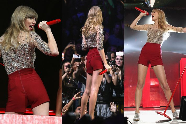 Taylor Swift's shorts.