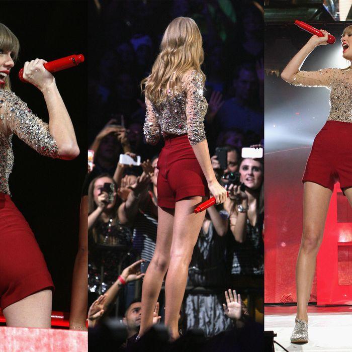 Taylor Swift's shorts.
