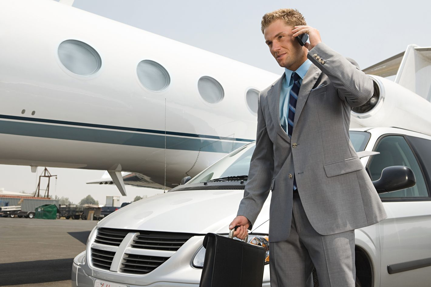 Businessman travelling.