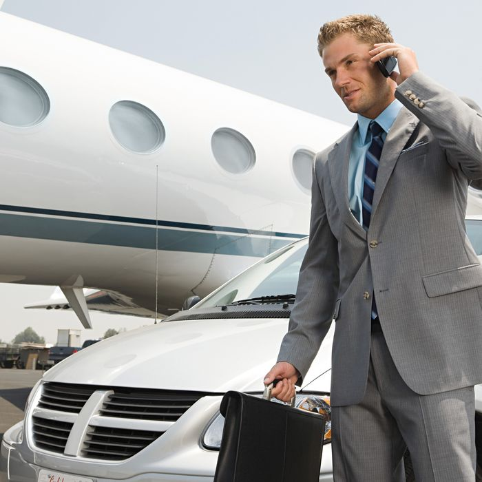 Businessman travelling.