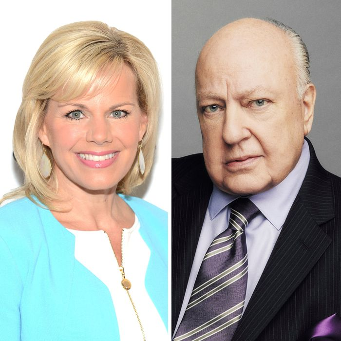 Gretchen Carlson and Roger Ailes.