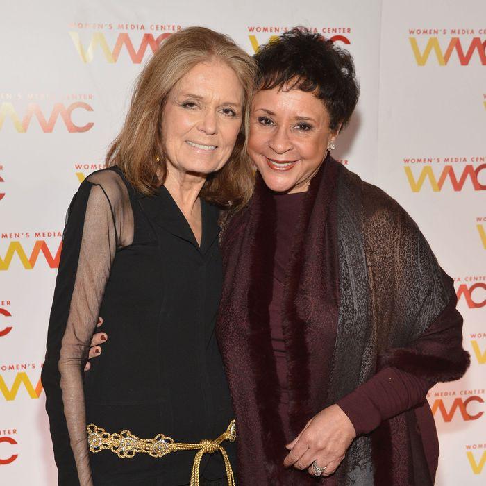 Gloria Steinem and Sheila Johnson.