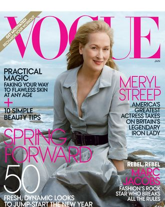 Meryl Streep covers 'Vogue' January 2012.