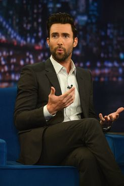 "NEW YORK, NY - JUNE 14:  Adam Levine visits ""Late Night With Jimmy Fallon"" at Rockefeller Center on June 14, 2013 in New York City.  (Photo by Theo Wargo/Getty Images)"