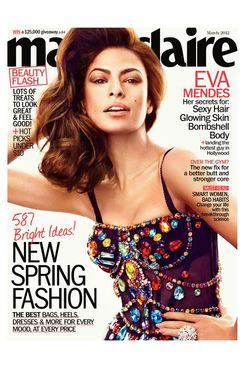 Eva Mendes for <em>Marie Claire</em>.