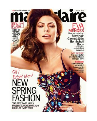 Eva Mendes for <em>Marie Claire</em>.
