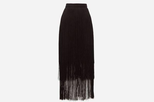 Raey Long-Fringe Midi Pencil Skirt