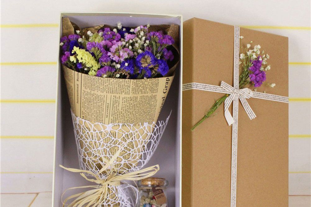 Forget-Me-Not Dried Flower Gift Box