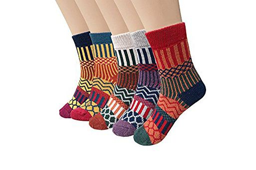 Justay Five-Pack winter Crew Socks