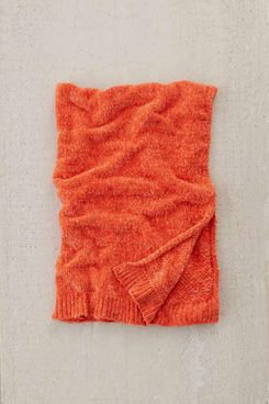 Urban Outfitters Chenille Knit Sweater Throw Blanket