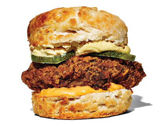 Birds & Bubbles' hot-chicken-and-egg biscuit.