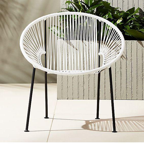 CB2 Ixtapa White Lounge Chair