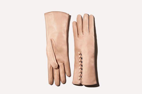 Portolano Button Leather Gloves