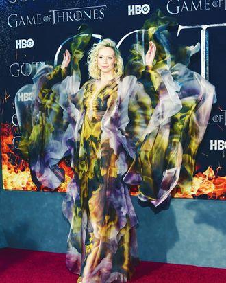 Gwendoline Christie S Fire Dress At Game Of Thrones Premiere