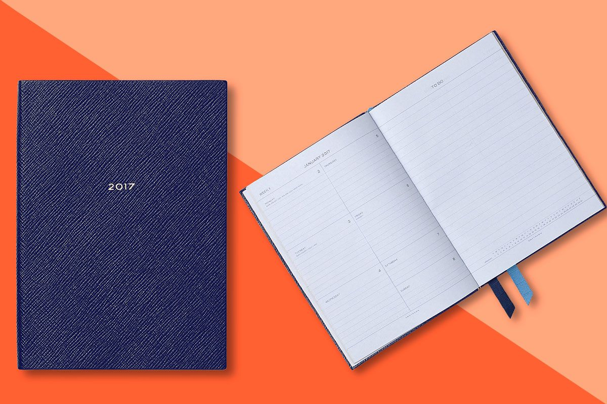 Smythson 2017 Soho Fashion Leather Diary