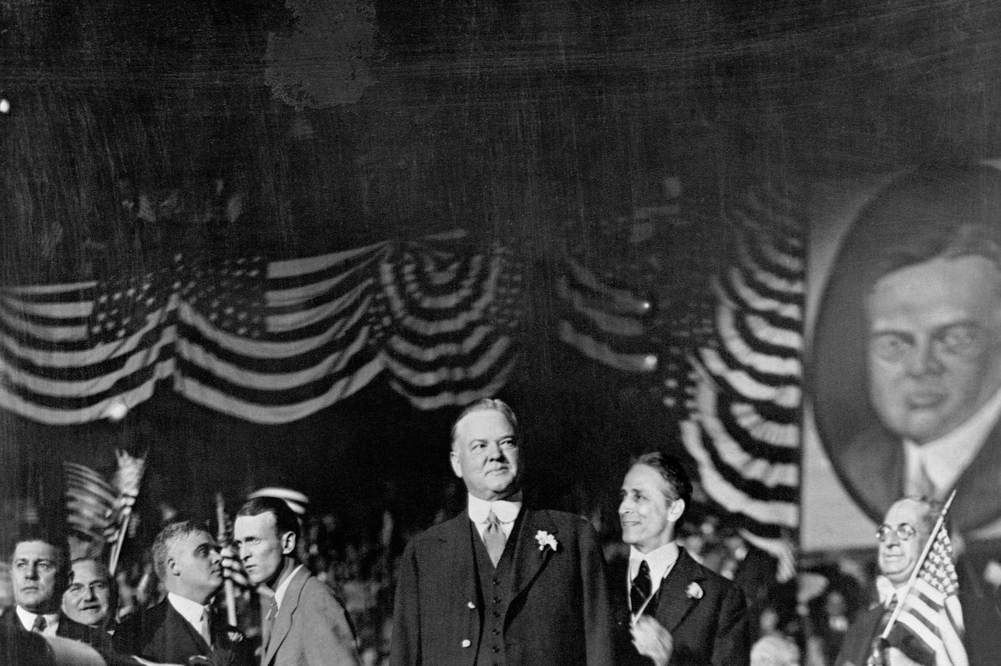 ca. 1928 --- Herbert Hoover Campaigning in New York.