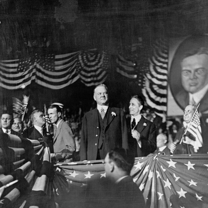 ca. 1928 --- Herbert Hoover Campaigning in New York.