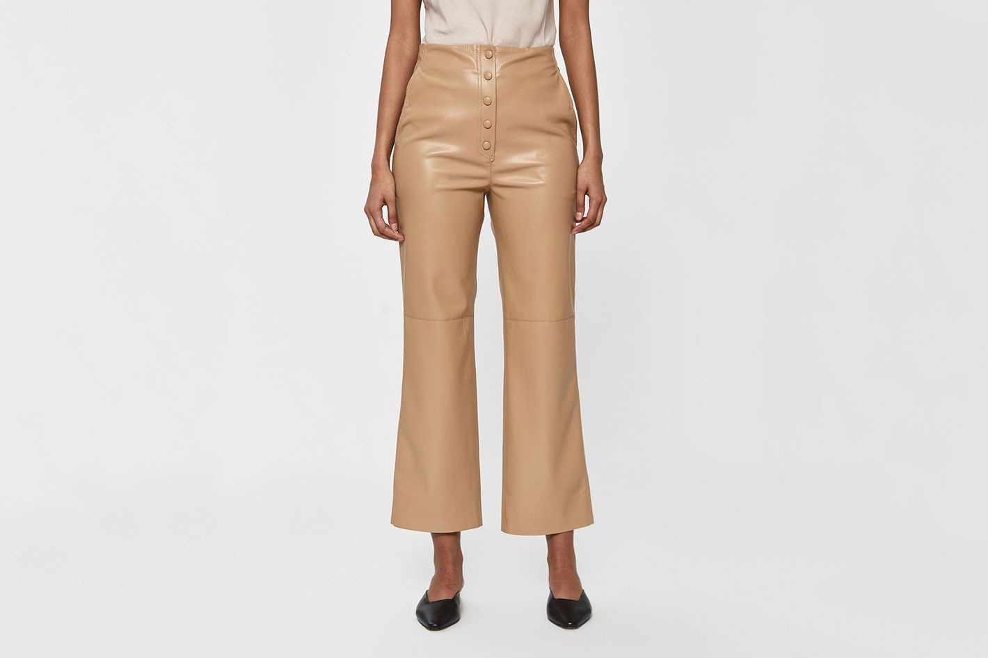 Nanushka Sora Vegan Leather Straight Leg Pant