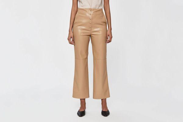 Nanushka Sora Vegan Leather Straight Leg Pant