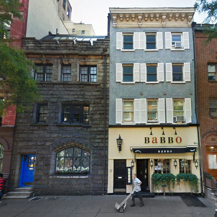 Nurretin Akgul's brownstone (on the left) allegedly offers unparalleled Babbo smells.
