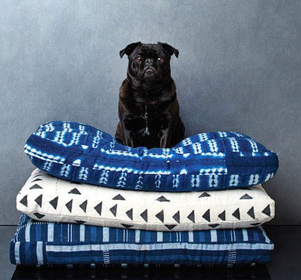 Backup Design Indigo Shibori Pet Bed // Medium