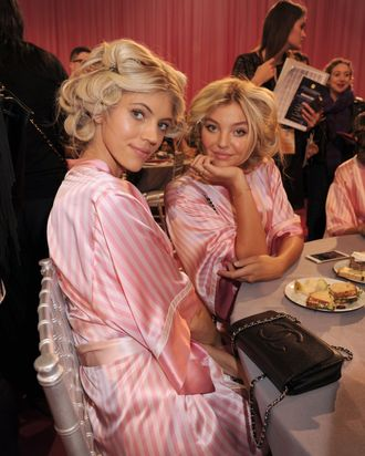 Devon Windsor, Rachel Hilbert, and food.