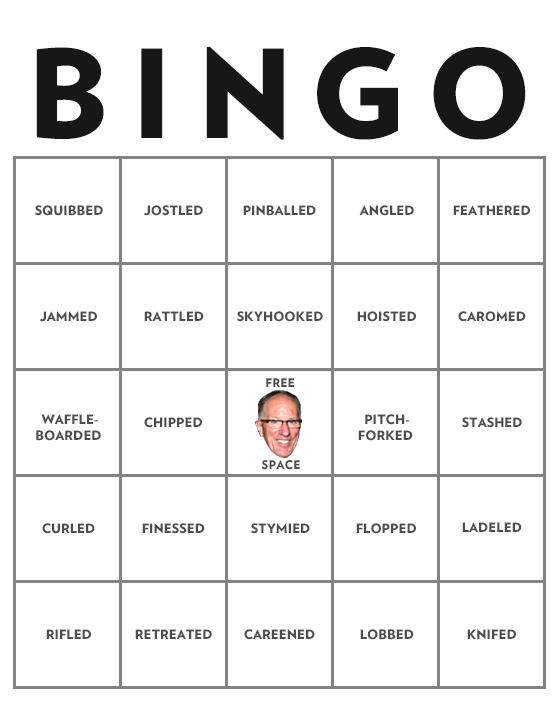 Presenting The Doc Emrick Action Verb Bingo Card