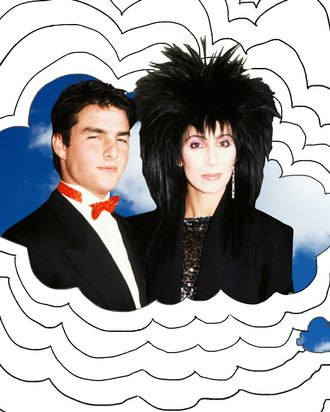 Tom Cruise and Cher in the eighties.
