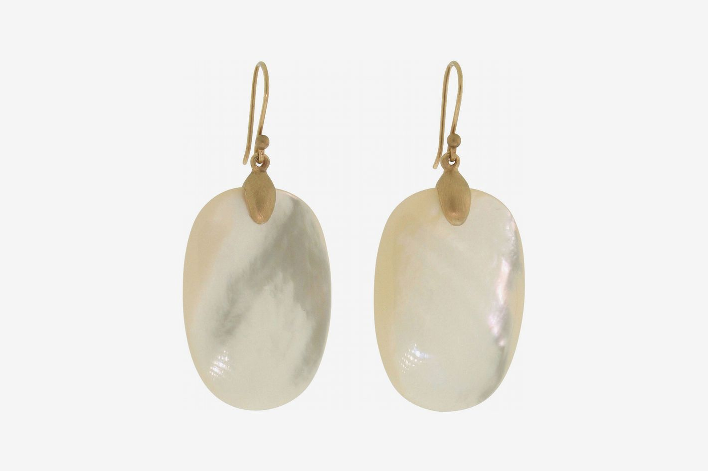 Ted Muehling Large Mother-of-Pearl Chip Earrings