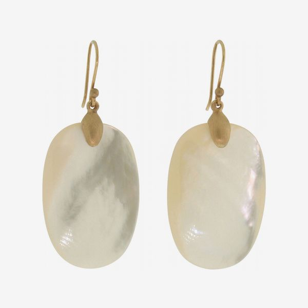 Best Earrings: Ted Muehling Large Mother-of-Pearl Chip Earrings