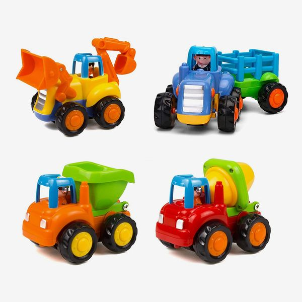 Wolson Friction Powered Cars Push and Go Construction Vehicles Set