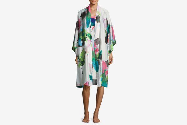 Natori Printed Satin Robe