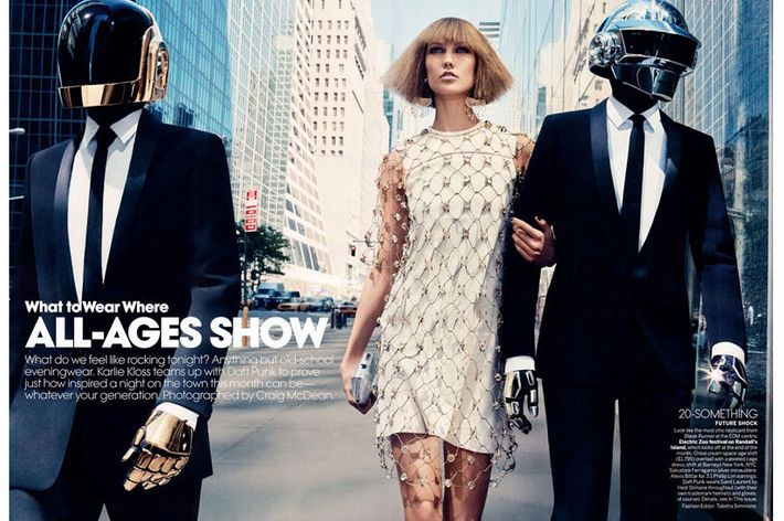 Karlie Kloss and Daft Punk.