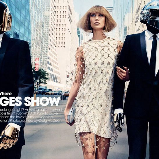 Karlie Kloss and Daft Punk.