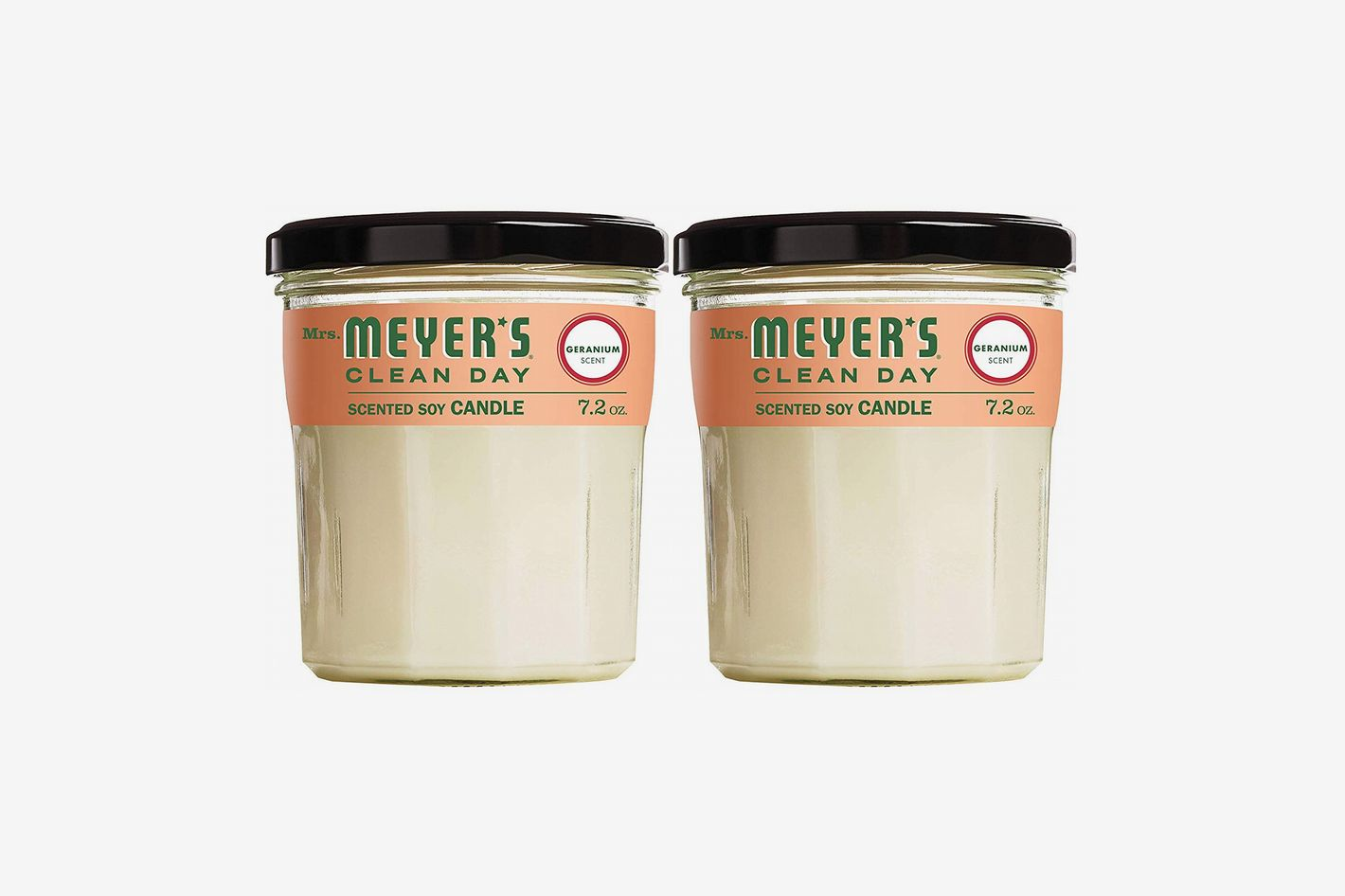 Mrs. Meyer's Clean Day Scented Soy Candle, Large Glass, Geranium