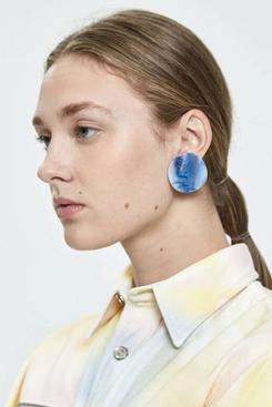 Rachel Comey Shell Marbled Acrylic Earrings