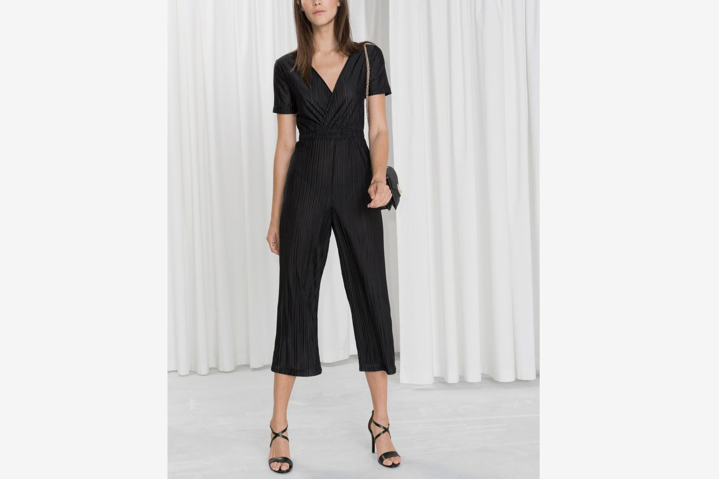 & Other Stories Pleated Wrap Jumpsuit