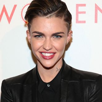 BEVERLY HILLS, CA - MAY 10: Model Ruby Rose attends The L.A. Gay & Lesbian Center's 2014 An Evening With Women (AEWW) at The Beverly Hilton Hotel on May 10, 2014 in Beverly Hills, California. (Photo by Imeh Akpanudosen/Getty Images)