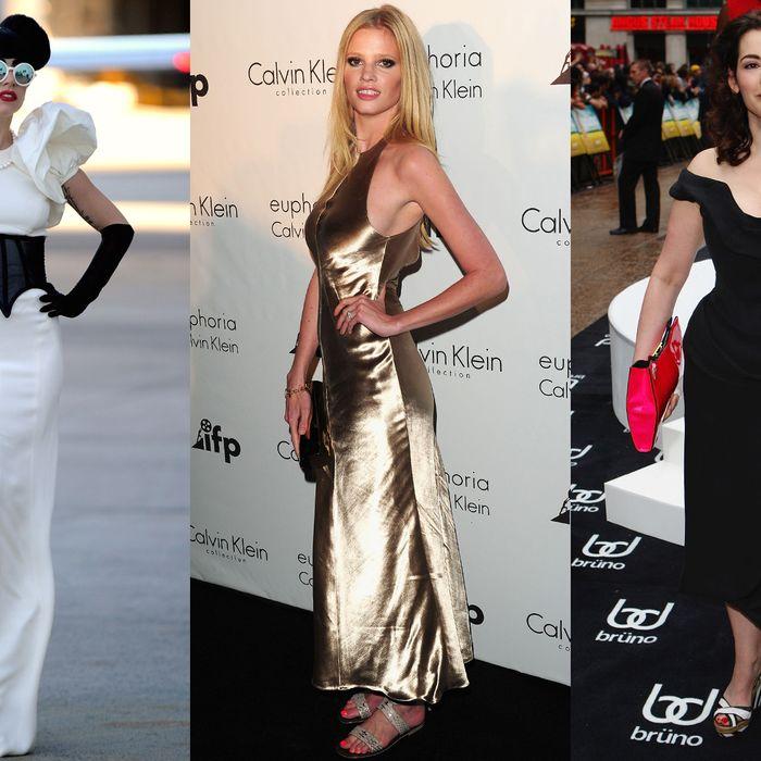 Lady Gaga, Lara Stone, and Nigella Lawson.