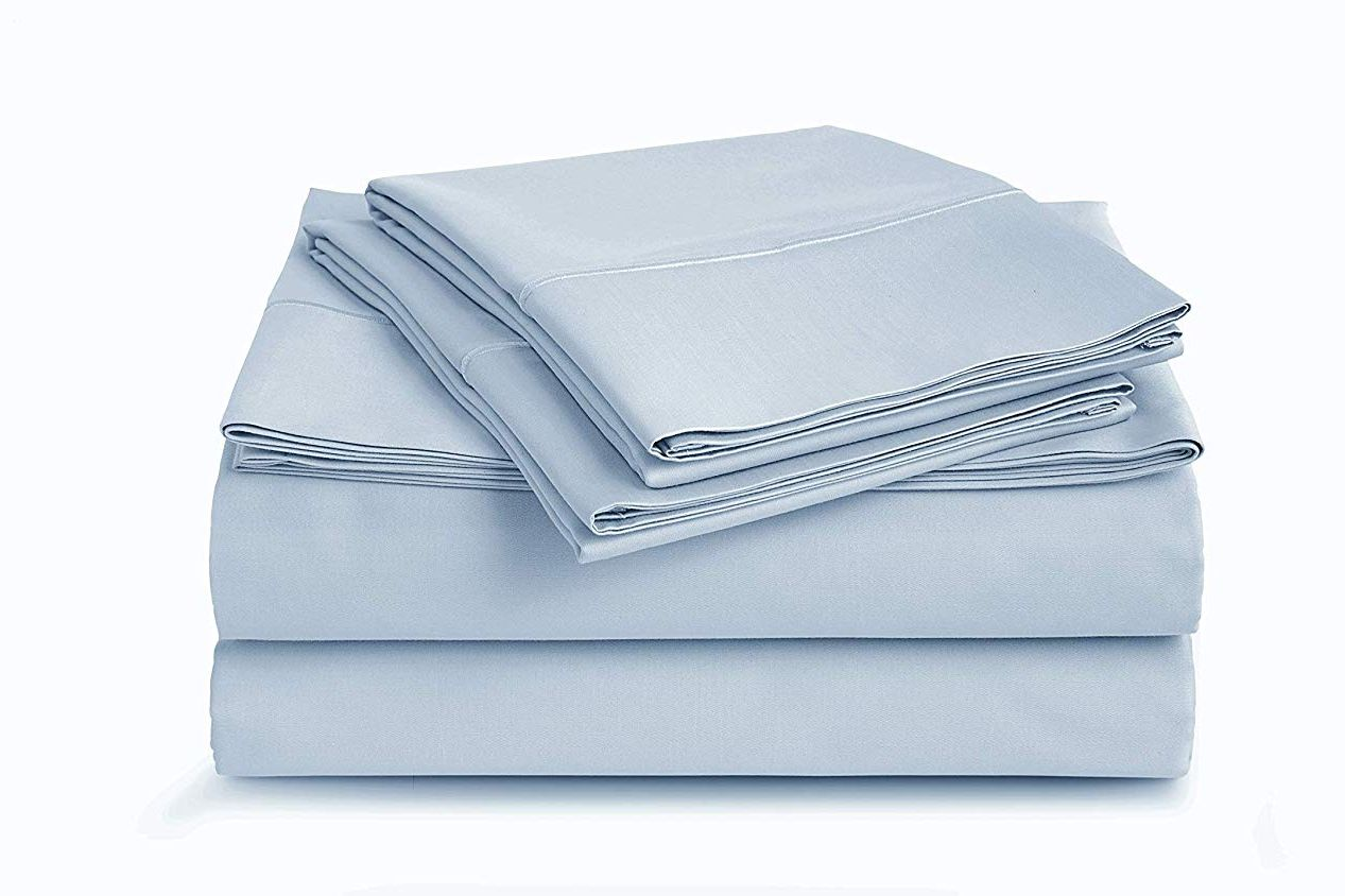 Cau Home Collection Luxury 100 Pima Cotton 500 Thread Count Ultra Soft Solid Sheet Set Queen