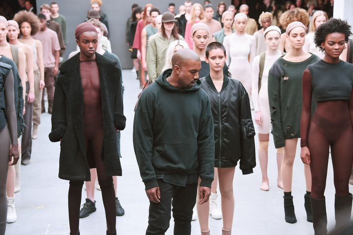 Kanye West at his show.