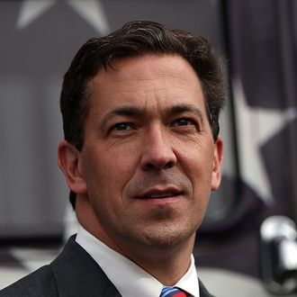 FLOWOOD, MS - JUNE 23: Republican candidate for U.S. Senate, Mississippi State Sen. Chris McDaniel looks on during a campaign rally on June 23, 2014 in Flowood, Mississippi. With one day to go before the Mississippi senate runoff election, Tea Party-backed Republican candidate for U.S. Senate, Mississippi State Sen Chris McDaniel is campaigning througout the state as he battles against incumbent U.S. Sen Thad Cochran (R-MS) in a tight race. (Photo by Justin Sullivan/Getty Images)