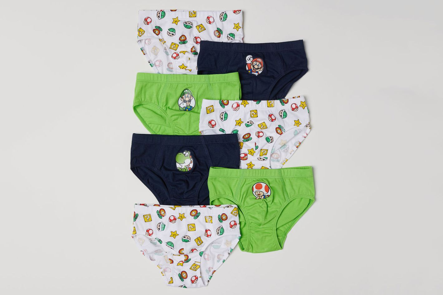 H&M 7-Pack Briefs (Super Mario)
