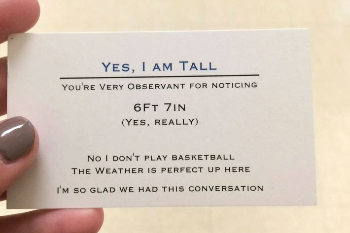 Funny Memes About Tall Guys : Tall teenager has business cards if you ask about his height