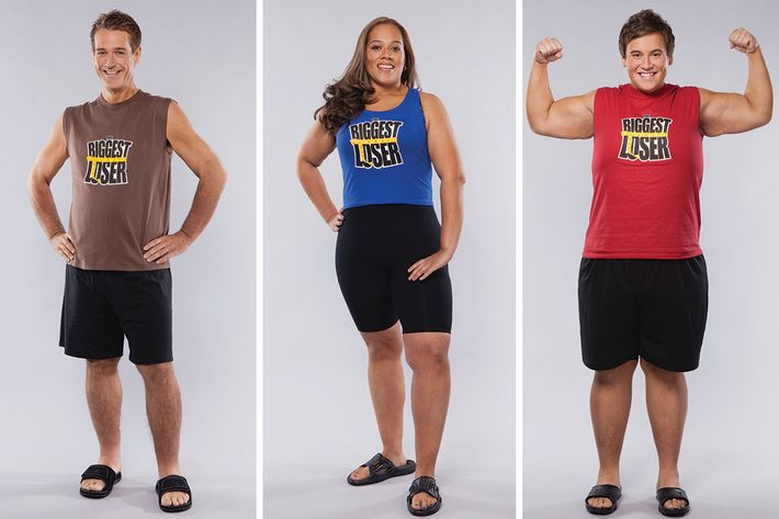 Biggest Loser season 8 contestants Danny Cahill, Dina Mercado, and Sean Algaier.