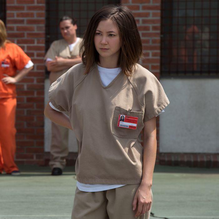 Samira Wiley as Poussey, Kimiko Glenn as Brook.