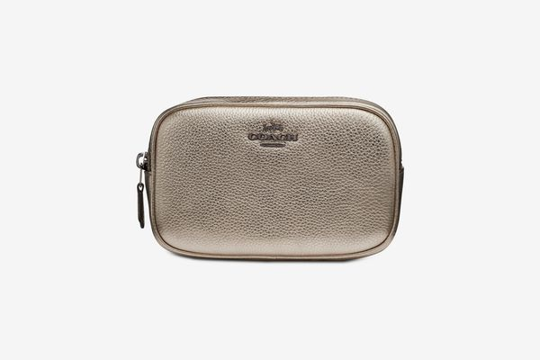Coach Metallic Belt Bag in Pebble Leather