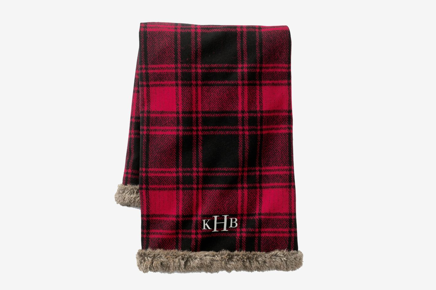 Lands' End Plaid Knit Throw